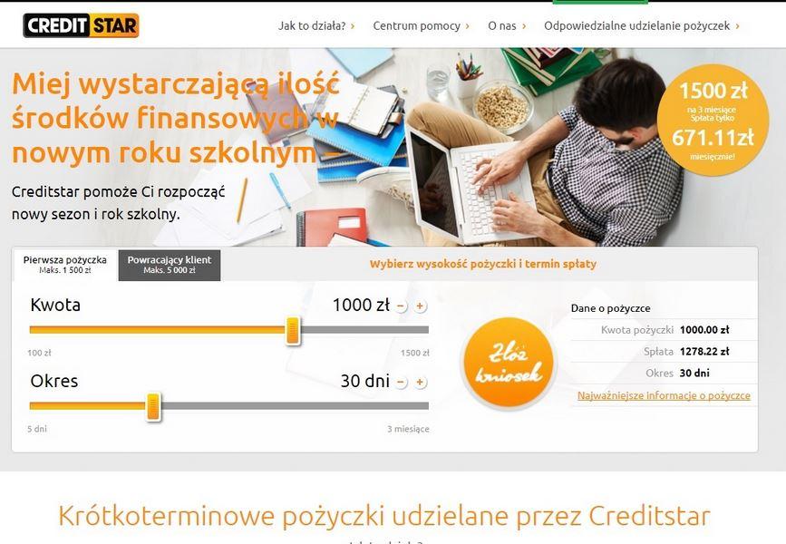 Creditstar szybka gotówka