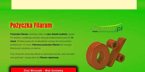 Pożyczka Filarum Myślibórz  zadzwoń 600 111 551